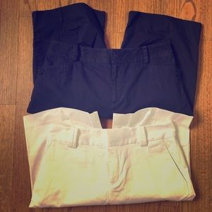 Ralph Lauren Walking Shorts Sz 4, Navy and White